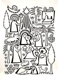 Christmas Card, Alexander Girard for Hallmark, 1960's