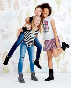 Be free to rock your fave sparkles, sequins and stripes! Your besties have your back.