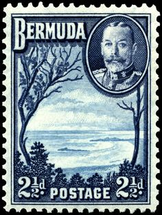 21⁄2d stamp of 1936, depicting Grape Bay