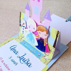 Convite Elsa e Anna push em pop up.