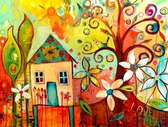 tracy verdugo.... one of my comissioned works...LOve Lives Here http://artoftracyverdugo.blogspot.com