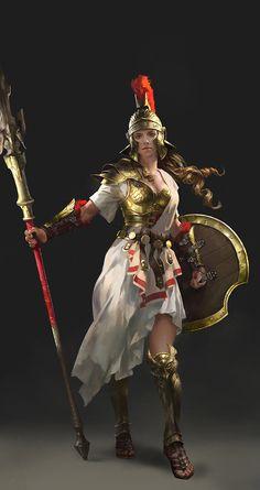 Character_Design_Athena, Lulu Zhang on ArtStation at https://www.artstation.com/artwork/la92J