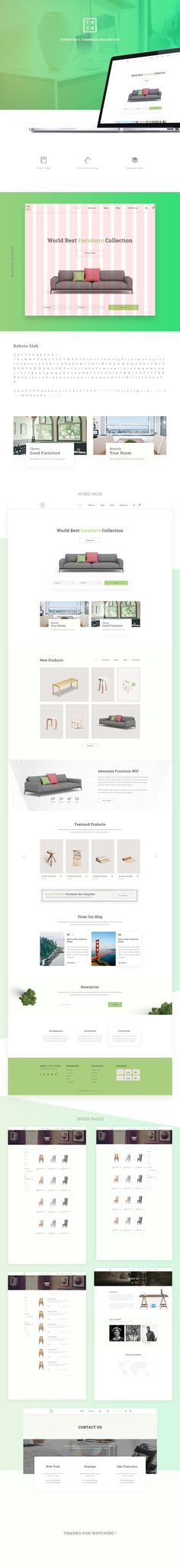 Hello Here is my Full web Concept of Furniture E-commerce business, I have tried to make it user friendly and as always with Clean interfaces. I hope you will like it.