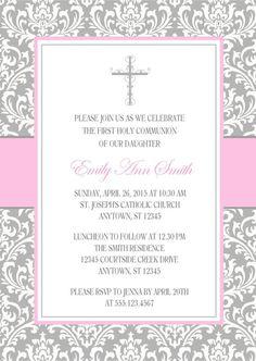PRIMERA invitación de comunión para niñas / personalizado