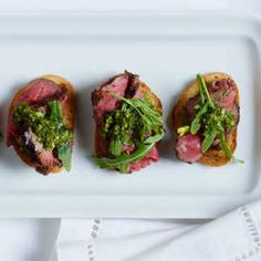 25 Irresistible Beef Tenderloin Recipes | Basque Beef Tenderloin Crostini | MyRecipes