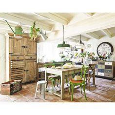 Mesa rectangular de madera reciclada Sarlat
