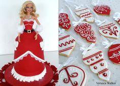 Xmas Doll Cake by Verusca.deviantart.com on @deviantART