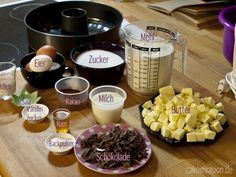 Zutaten Marmorkuchen