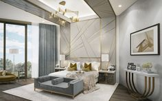 This is a Bedroom Interior Design Ideas. House is a private bedroom and is usually hidden from our guests. However, it is important to her, not only for comfort but also style. Much of our bedroom … Bedroom Wall Paint Colors, Art Deco Bedroom, Bedroom Decor, Bedroom Ideas, Bedroom Lighting, Fancy Bedroom, Bedroom Furniture, Bedroom Benches, Bedroom Chandeliers