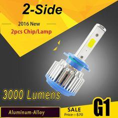 6000 Lumens 60 Wát COB LED 12 V 24 V H1 H3 H4 H7 H11 xe Đèn Pha Kit Front Đèn Bulb Fog Bóng Đèn Đèn Pha Thay Thế Xenon