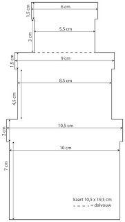 Neem het patroon over op 2 hagelwitte rechthoeken van 10,5x19,5cm.     Klik op de afbeelding om het patroon te downloaden    Ril 1 van u...