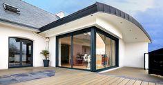 extension toit arrondi vérandaline