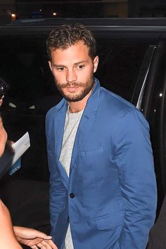 Jaime Dornan   Leaving NYC hotel