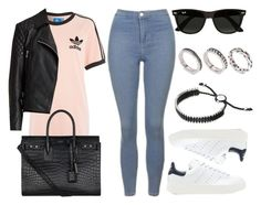 """#13662"" by vany-alvarado ❤ liked on Polyvore featuring Topshop, adidas, adidas Originals, AllSaints, Yves Saint Laurent, Ray-Ban, Links of London and ASOS"