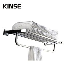 (120.00$)  Watch more here - http://ai59w.worlditems.win/all/product.php?id=32789082574 - Luxury Chrome  Bath Dual Towel Bars  Brass Wall Mount Towel Hanger Double Bathroom Accessories 60CM Bar