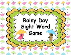 This is a fun Spring Rainy Weather themed sight word practice game!  Students will love practicing reading and mastering their sight word recognition through this engaging game!  This game can be used in a literacy center, small group, RTI group, or independent practice.Students will take turns drawing a card for the pile.