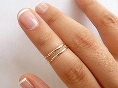 14K Gold Filled Knuckle Rings - Set of 2  - Above Knuckle Rings - Midi Stack Rings - 1.5mm Slim Band Knuckle Rings - First Knuckle