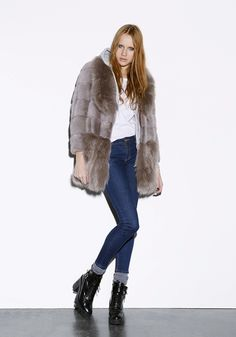 Byte by Giuliana Teso Mink and Fox Fur Stroller