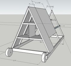 Chicken Tractor Sketchup Diagram