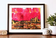 This is Red Love - one of my brand new smaller format original paintings (12 inch x 16 inch) as part of my On The Plain series celebrating stark and dramatic landscapes and skies. #interior #interiordesign #interiorstyle #interiorlovers #interior4all #interiorforyou #interiordecorating #interiorstyling #interiors #interiordesire #interiordesignideas #interiordetails #interiorandhome #interiorforinspo #deco #homedesign #homestyle #galleries #interiordesigns #mixedmedia #wallart #art #myart