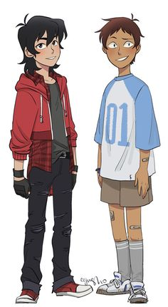 Keith and Lance as Preteens Teenagers from Voltron Legendary Defender. I don't ship them, but they sure look very cute.
