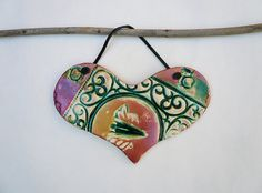 Hello and welcome to * C E R A M Y S T I C A * Thank you for viewing my Artwork! This sale is for the Heart shown above:   This lovely high quality,