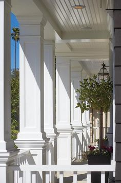 """Love these columns and ceiling! Think I might paint it ''hain't blue"""""""