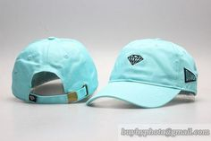 Diamond Curved Brim Caps Adjustable Hats Cyan Blue only US$8.90 - follow me to pick up couopons.