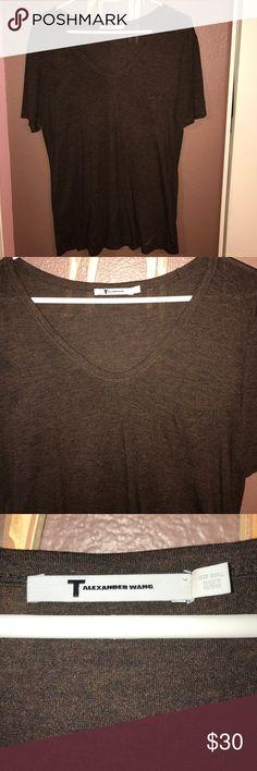 Alexander Wang T-Shirt T by Alexander Wang t-shirt. Super soft, dark brown espresso color. Alexander Wang Tops Tees - Short Sleeve