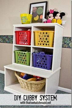 DIY Cubby System, Kid Rooms, Toy Organization