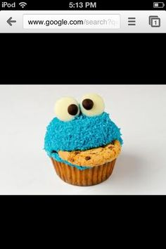 To die for Cookie Monster Cupcakes