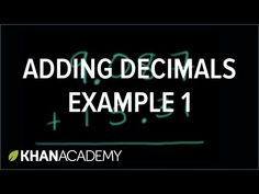 Adding decimals: 9.087+15.31 | Adding and subtracting decimals | Decimals…