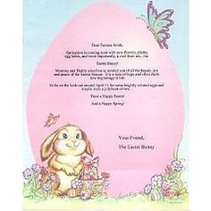 Download a free easter bunny letter template for ms word or send a personalized letter from the easter bunny spiritdancerdesigns Choice Image