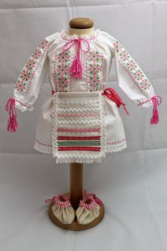 Popular Costumes, Cross Stitch Flowers, Fashion For Girls, Needlepoint, Clothing, Atelier