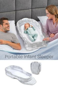 Great way to create a space for baby in your bed while providing that closeness and a sense of security. Can be used at home or while traveling #infant #newborn #babyitems #afflink #babygear #cosleeper