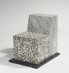 """ettore sottsass see """"seating near enigma"""" - 1987 docket white marble veined gray, sitting blancinclusions black terrazzo terrac. Chair Design, Furniture Design, City Furniture, Design Design, Graphic Design, Muebles Art Deco, Memphis Design, Diy Décoration, Vintage Design"""
