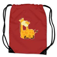 Turnbeutel mit dem Motiv Kuschelnde Giraffen. Kinder Turnbeutel BagBase® Kuschelnde Giraffen