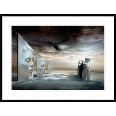 "Global Gallery 'Silent Heights' by Ben Goossens Framed Graphic Art Size: 27"" H x 36"" W x 1.5"" D"