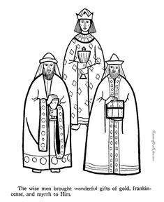 Three Wise Men coloring pages to print