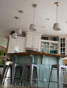 Make DIY Pendant Lights (Kitchen Remodel Project)! -- Tatertots and Jello #DIY #lighting