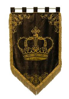 Crown Tapestry- I want one.