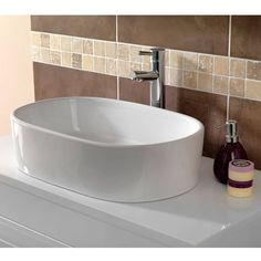 Sorano Counter Top Basin - narrow and long giving extra space in small bathroom