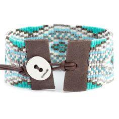 Chan Luu - Capri Mix Beaded Cuff Bracelet, $295.00 (http://www.chanluu.com/bracelets/capri-mix-beaded-cuff-bracelet/)