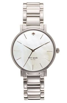 kate spade new york Watch, Women's Gramercy Stainless Steel Bracelet - Women's Watches - Jewelry & Watches - Macy's Kate Spade Gramercy Watch, Kate Spade Watch, Christian Audigier, Stainless Steel Watch, Stainless Steel Bracelet, Chloe, Kate Spade Designer, Gucci, Crystal Bracelets