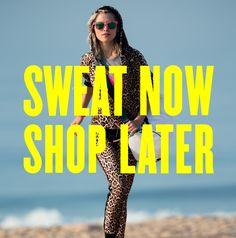 sweat now, shop later #JuicySport