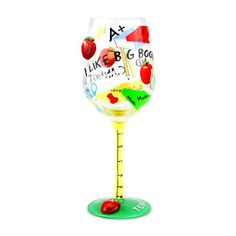 Top Shelf I Like Big Books Wine Glass - for your fav #teacher Comes packaged in a see through gift box along with a ribbon and customizable hang tag!