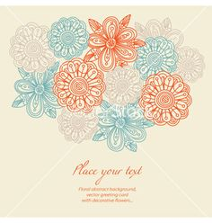 Floral background greeting card vector on VectorStock®