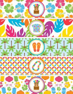 Tiki Hawaiian Luau Water Bottle Labels - INSTANT DOWNLOWD - DIY Printable File Party Decorations Aloha Party, Hawaiian Luau Party, Tropical Party, Flamingo Birthday, Flamingo Party, Hawaian Party, Printable Water Bottle Labels, Art And Craft Videos, Moana Party