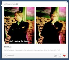 "Also drunk deductions, aka one of the best things to ever happen on the show. | Tumblr Reacts To ""Sherlock's"" ""The Sign Of Three"""