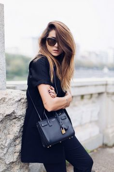 BLACK OUTFIT AUTUNNO INVERNO 2015 P.A.R.O.S.H.